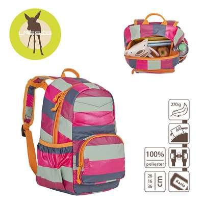 f98e1817e6785 Plecak szkolny lekki pikowany Striped magenta
